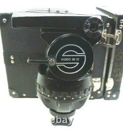 Sachtler 150mm HEAD STUDIO II VIDEO 30-II BAR PLATE TIE DOWN BOX SERVICED 110Lbs