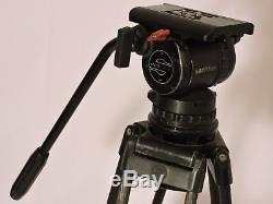 Sachtler 8/100 SB Fluid Head (100 mm) ENG 2 CF Tripod Spreader Pan Handle Plate