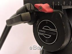 Sachtler DV-12SB Fluid Head (100mm) ENG 2 CF Tripod Spreader Pan Handle Plate