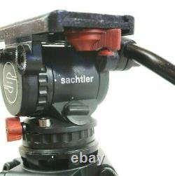Sachtler FLUID HEAD Video 12 DV PAN BAR WEDGE PLATE TIE DOWN KNOB SERVICED 26Lbs