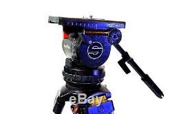Sachtler V18P Fluid Head DA L TRIPOD GrSpr SP 100 Plate TEL Bar SERVICED 40 Lbs