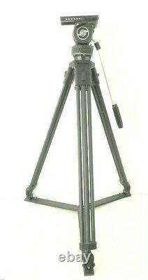 Sachtler Video 14 ll Tripod, Head, Ground Spreader, Pan Bar & Camera QR Plate