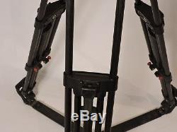 Sachtler Video 15SB (100 mm bowl) Fluid Head Tripod Spreader Pan Bar Bag Plate