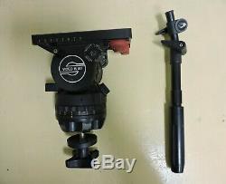 Sachtler Video 15 SB Fluid Head (100 mm) Telescopic Pan Handle Camera Plate Bolt