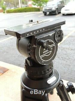 Sachtler Video 18 II Tripod Head quick release plate Tripod Case Bundle