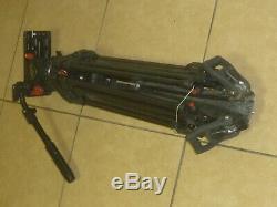 Sachtler Video 18 S1 Head ENG 2 CF Tripod Spreader Telescopic Pan Handle Plate