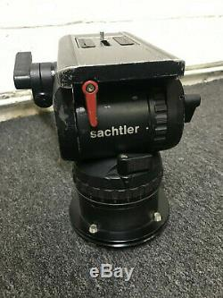 Sachtler Video 20P fluid head with flat plate adaptor for use on ped