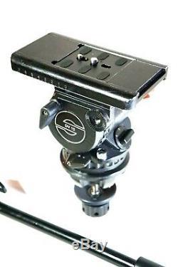 Sachtler Video DV 12 Fluid Head FOR 100mm Tripod CAM PLATE PAN BAR SERVICED 26Lb