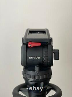 Sachtler Video V18 P with Telescopic Pan Bars (x2), Quick Release Plate