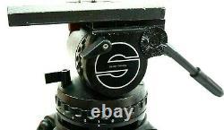 Sachtler Video V25 III Fluid Head Vinten 150mm PLATE TIE DOWN TBAR SERVICED 6Lbs