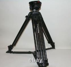 Tripod Manfrotto Camera- Tripod 525MVB with head 501HDV withBag MBAG90P withplate