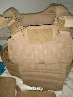 USMC Plate Carrier with all Soft Inserts + yib yab + quick release Medium