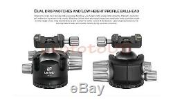 US DealerLeofoto LH-55 Low Profile Ball Head with Quick Release Plate and CASE