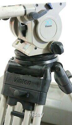 VINTEN VISION 20 FLUID HEAD 2ST TRIPOD GR SPREADER 2 BARS PLATES SERVICED 60 Lbs