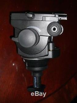 Vinten Pro-6 HDV Head, knob, camera plate, manual, legs, spreader, pan bar + bag