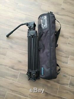 Vinten Protouch Pro 6 HDV camera Tripod with mid spreaders, plate, & Vinten Bag