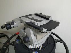 Vinten Vector 70 studio head and 2 telescopic panbars and wedge plate
