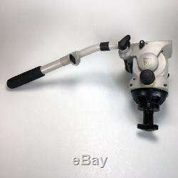 Vinten Vision 100 (3431-3) Pan and Tilt Head + Plate + Pan Bar + Bowl Clamp