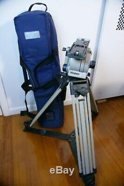 Vinten Vision 12 Professional Video Tripod with Camera Plate (Head need repair)