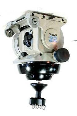 Vinten Vision 22SD FLUID HEAD CINEMA TEL-PAN BAR PLATE CALIBRATED SERVICED 77Lbs