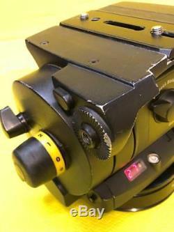 Vinten Vision 250 Fluid Head Black 4-Bolt Base Mounting Plate Telescopic Pan Bar