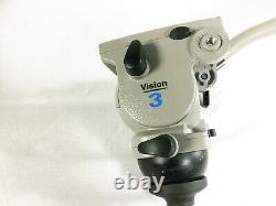 Vinten Vision 3 Tripod Head 3543-3 + Plate + Pan Bar / 75mm Bowl 1-10 Kg Load