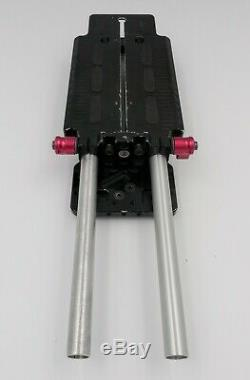 Zacuto VCT Universal Baseplate PLUS QR Riser Quick Release Plate for DSLR Camera